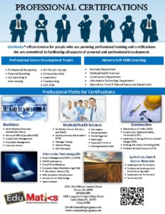 thumbnail of professional-certifications-flyer